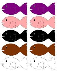 colored fish printables. Plain Fish Go Fish Printable Game To Colored Printables O
