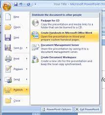 Ms Word Powerpoint Create Handouts In Word Handout Slides Microsoft Office