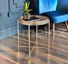 tromso gold tray metal coffee table