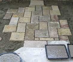 homemade paver stones image diy patio
