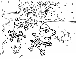 Mom puts a big cake on the table. Peppa Pig Coloring Pages Her Family And Friends Print Online