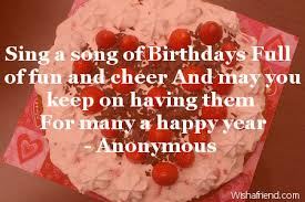 Love Birthday Quotes Gorgeous Sing A Song Of Birthdays Full Love Birthday Quote