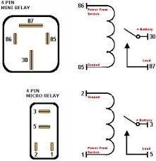 pin wiring diagram wiring diagram 4 pin relay wiring diagram nilza