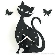 3d diy 35x32cm cute cat erfly wall clock modern design 3d diy 35x32cm cute cat erfly amazing cat rules wall decor