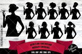 Search images from huge database containing over 290,000 silhouettes. Black Woman Smoking Svg 449407 Svgs Design Bundles