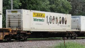 Jb Hunt Intermodal 1 000 000th Intermodal Loads In 2010 Jb Hunt Car On Ns 223