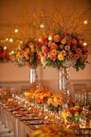 flower centerpieces for fall wedding