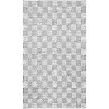 zofia braided checkerboard ivory 8 ft x 10 ft area rug