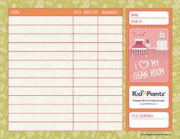 Chore Charts For Kids Allowance Kid Pointz