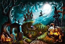 CSFOTO 5x3ft Background for Halloween Night <b>Mystery</b> Graveyard ...
