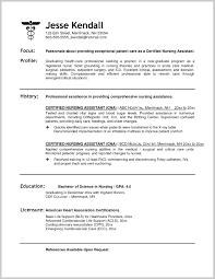 Certified Nursing Assistant Resume Templates Filename Fabulous