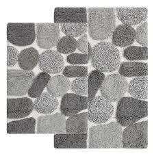 chesapeake merchandising pebbles 24 in x 40 in 2 piece bath rug set