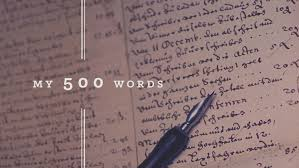 word essay written 500 word essay written