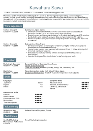 Resume Examples By Real People Content Strategist Resume Template