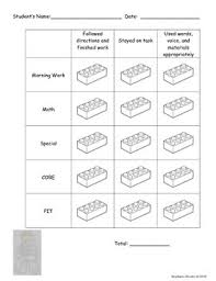 Free Lego Behavior Chart