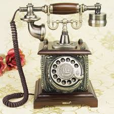 centon with the old nine door antique craft vine old wood rotary dial dial telephone decoration