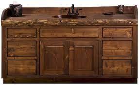 Custom 60 72 Rustic Log Bathroom Vanity The Log Furniture Store