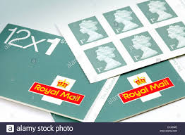 First Class Stamps For Letter Postage New 2013 Colour England Uk
