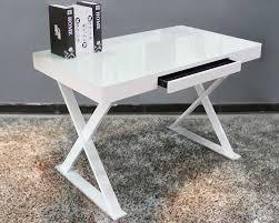 white modern office desk. White Metal Amp Glass Office Desk Modern E