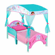 Dora the Explorer Plastic Toddler Bed with Canopy - Walmart.com