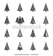 christmas tree icon vector. vector black christmas tree icons set on white background icon i