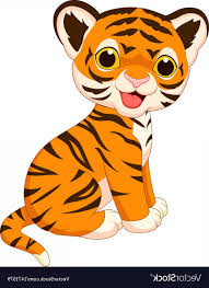 cute animated baby tigers. Brilliant Baby Vector Black And White Baby Tiger Cute Tiger Cartoon With Animated Tigers O