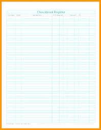 Check Ledger Free Checkbook Register Ledger Blank Check Page Printable Template E