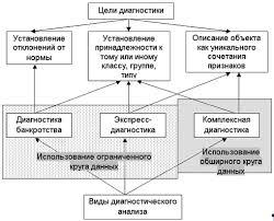 Курсовая работа Диагностика прибыли и рентабельности предприятия  Рисунок 1 2 Виды диагностики в зависимости от целей и масштабов анализ
