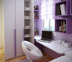 fresh purple home office room design
