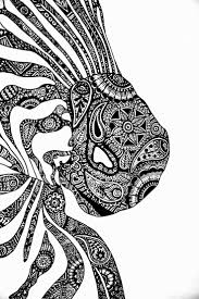Small Picture 29 best zentangle ZEBRAS and HORSES images on Pinterest