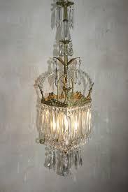 Jugendstil Kronleuchter Aus Kristallglas Von Glasfabrik Joseph Palme Steinschönau