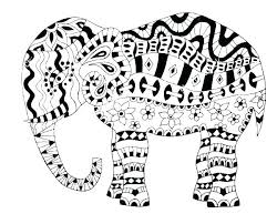 Coloring Page Elephant Filelockerinfo