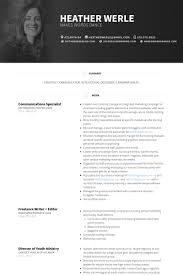 Digital Communications Resume Communications Specialist Resume Example Tailor Made For Hire