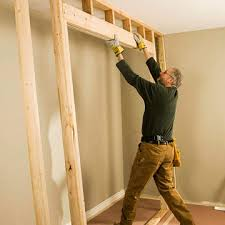 How to frame a closet Stud If You Do Not Already Have One Build Wall For The Closet With Header Above Header That Spans Feet Should Be Made Of 2x8s Or Larger Better Homes And Gardens Framing For Closet Doors