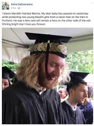 This is Taliesin Myrddin. He was murdered today in Portland by a.