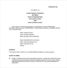 Simple Service Contract Client Service Contract Doc 23 Simple Contract Template