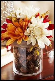 Fall Table Decorations With Mason Jars Fall Table Centerpiece Ideas 100 Elegant Weddings 44