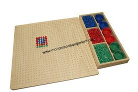 Wooden Peg Games Peg Board with Pegs 64