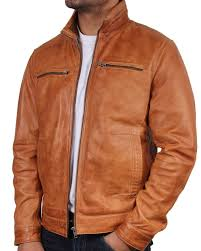 Light Brown Leather Jacket Mens Mens Tan Leather Jacket Chicago