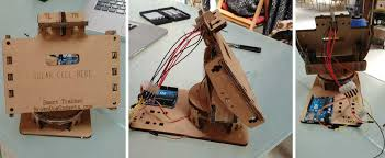 as a first step we ve opted to follow a tutorial about the dual axis solar tracker diy powered by arduino using cardboard to get a better understanding of