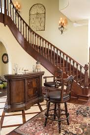 furniture t north shore: ashley furniture d north shore old world style bar with marble top