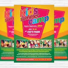 Summer Camp Flyer Template Delectable Flyer For Kids Heartimpulsarco