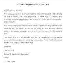Free Recommendation Letter Template Magnificent Example Of A Good Reference Letter For Employment Creativeletterco