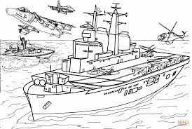 Aircraft Carrier Coloring Pages Free - Printable Coloring Sheets