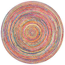 this review is from aleen braided cotton jute multi 6 ft round area rug
