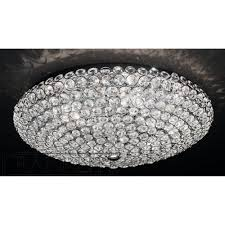 franklite fl2275 6 marquesa crystal flush ceiling light