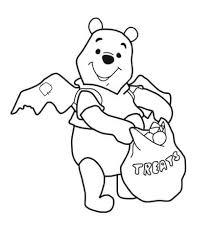 Disegno Di Winnie The Pooh A Halloween Da Colorare Disegni Da