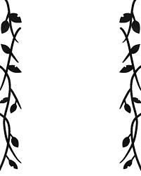 白黒のツタと葉っぱフレームのイラスト 無料イラスト素材素材ラボ