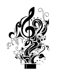 Collection of 25 music black and white tattoo designs