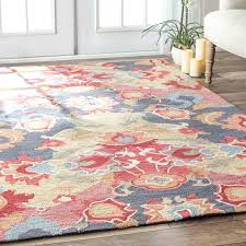 blue and red area rug red blue yellow rug